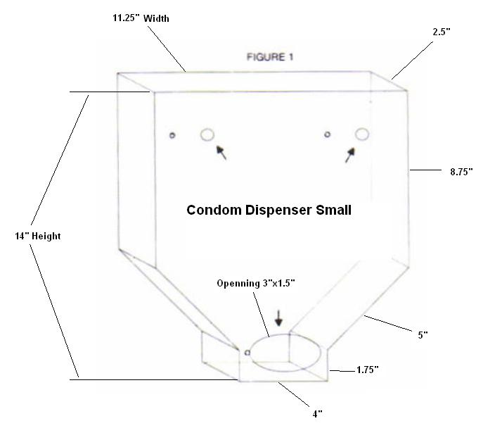 Small Condom Dispenser Dimensions